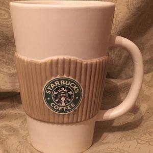 Starbucks Coffee Ceramic Cup w/Sleeve 25 FL OZ